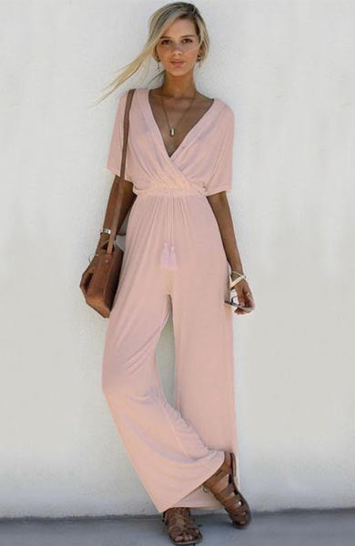 Sleeveless Boho Long Spaghetti Strap V-Neck Backless Dress