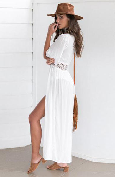 Lace Beach Beautiful Swimwear Cover Up Cardigan Dress