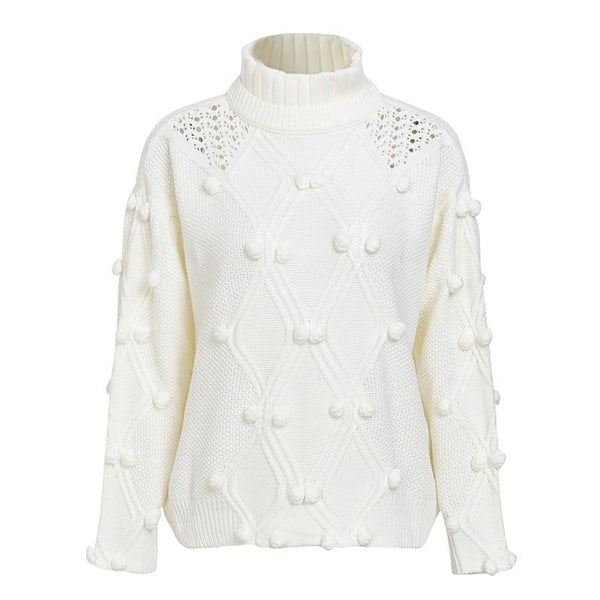 Svetlana Casual Turtleneck Sweater Pullover Jumpers