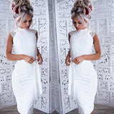 Sexy Lace Midi Sleeveless Slim Elegant Dress - Lizachic