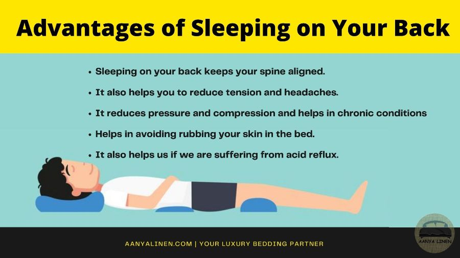 Advantages of sleeping on your back
