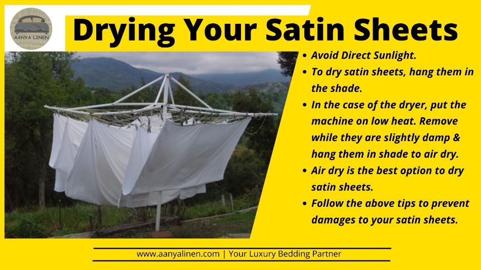 Drying Your Satin Sheets