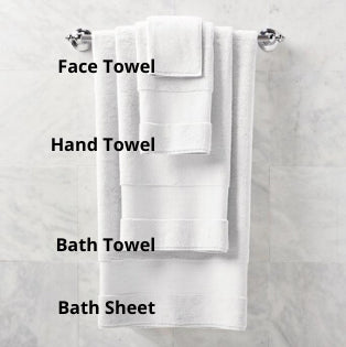 face, hand, bath towel and bath sheet