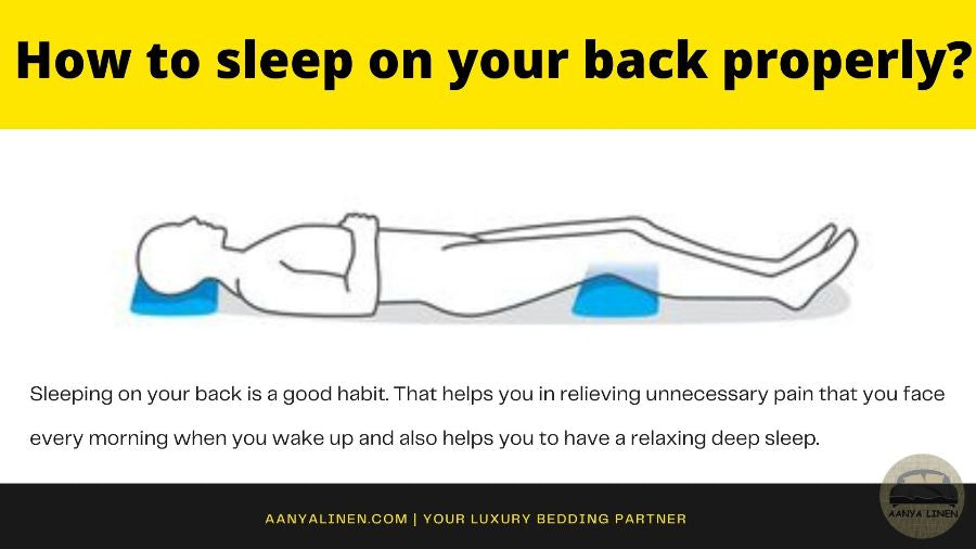 How to sleep on your back properly