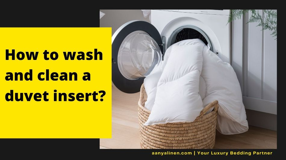 image showing How to wash and clean the duvet insert