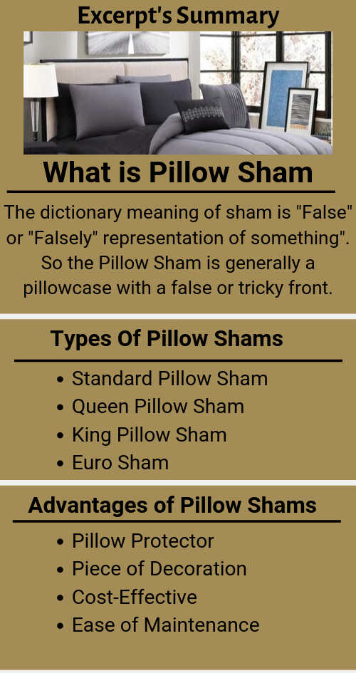 what is a pillow Sham types of pillow sham and advantages of pillow shams