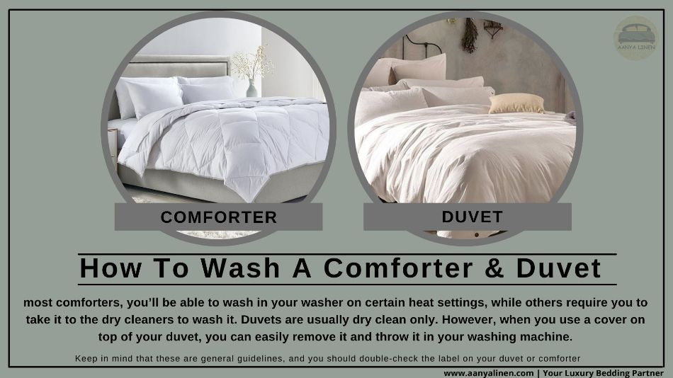how to wash a comforter and duvet