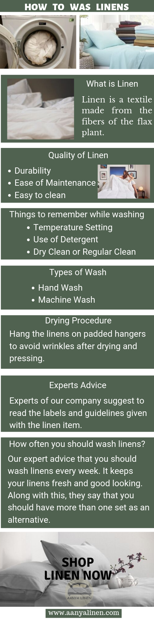 how to wash linen