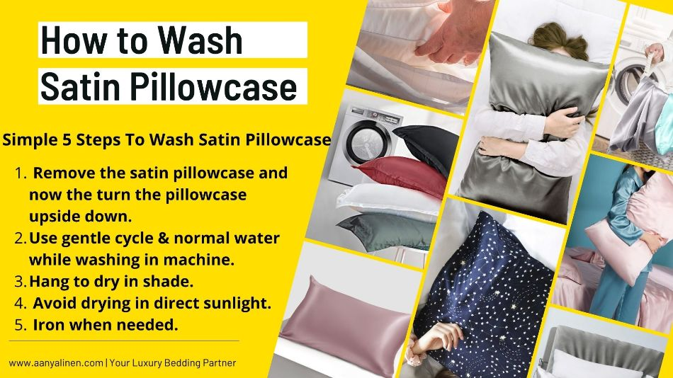 how to wash satin pillowcase