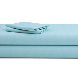 Comfy Solid Sateen Sheet Set Light Blue