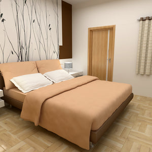 Comfy Solid Sateen Sheet Set Beige