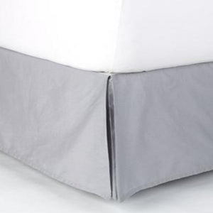 Light Grey Twin XL Bed Skirt