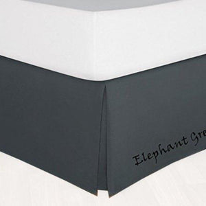Bliss Dark Grey Sateen Bed Skirt Solid