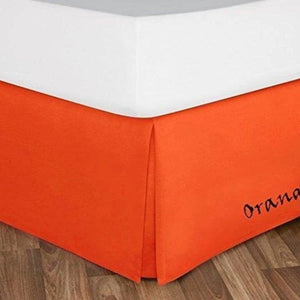Orange Bed Skirt Solid Comfy Sateen