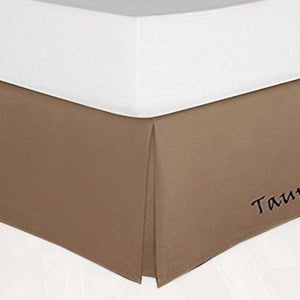 Taupe Bed Skirt Solid Bliss Sateen