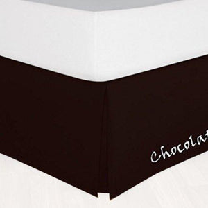 Chocolate Brown Bed Skirt