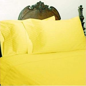 Comfy Stripe Sheet Set Yellow Sateen