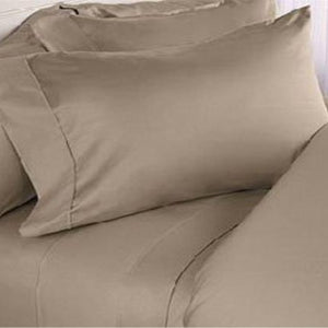 Taupe Solid Sateen Bliss Sheet Set