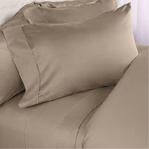 Comfy Solid Sateen Sheet Set Taupe