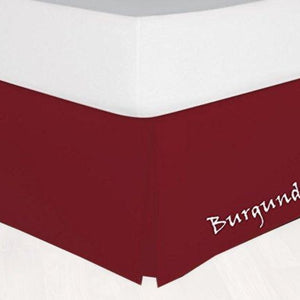 Solid Burgundy Bedskirt