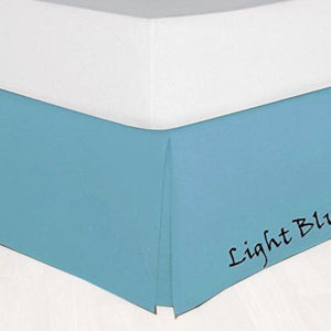 Light Blue Bed Skirt Solid Sateen Bliss