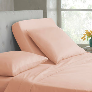 Solid Peach Fitted sheet Comfy Sateen