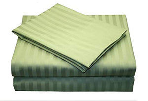 Comfy Stripe Sheet Set Sage Sateen