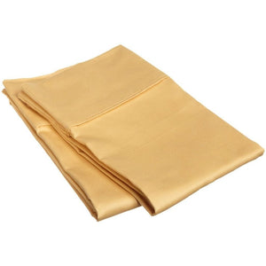 Gold Pillowcase Solid Comfy Satin