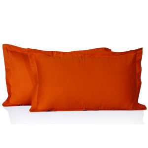 Orange Pillow Shams Solid Comfy