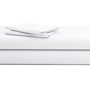 White Solid  Sateen Bliss Sheet Set