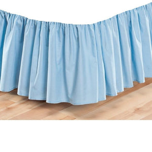 Comfy Light Blue Gathered Bed Skirt