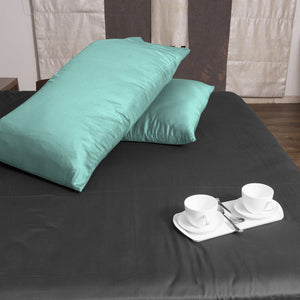 Luxury Comfy Sateen Pillowcase Solid Aqua Blue