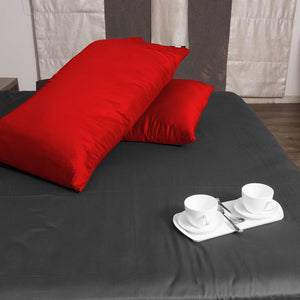 Red Pillowcase Solid Comfy Sateen