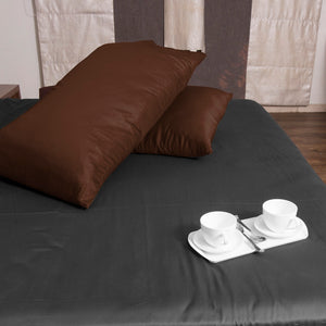 Chocolate Solid Pillowcase Sateen Bliss