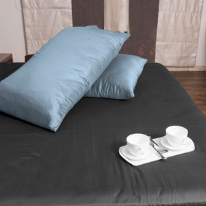 Bliss Sateen Pillow-Case Solid Light Blue