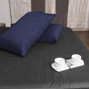 Navy Blue Pillowcase Solid Comfy Sateen