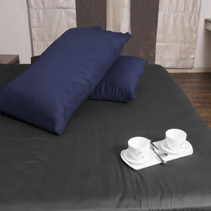 navy blue pillow case