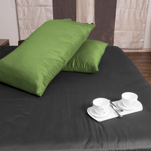 Sage Pillowcase Solid Bliss Sateen