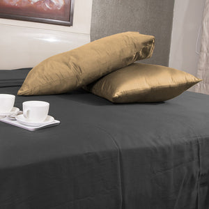 Luxury Comfy Sateen Pillowcase Solid Beige