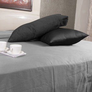 Luxury Comfy Sateen Pillowcase Solid Black