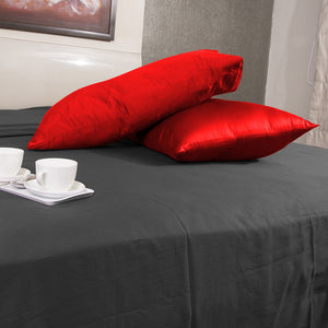 red satin pillowcases