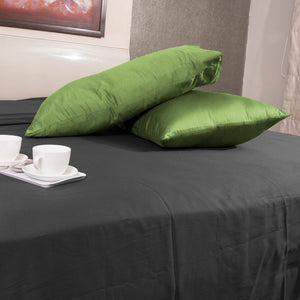 Sage Pillowcases Solid Sateen Bliss