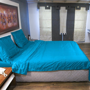 Duvet Cover Set Comfy Sateen Turquoise