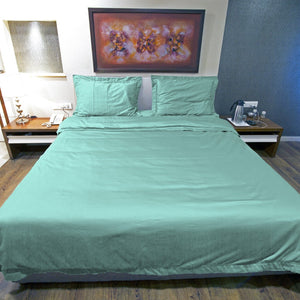 Duvet Cover Set Comfy Solid Aqua Blue