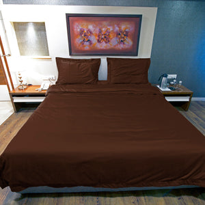 Chocolate Duvet Cover set Solid Bliss Sateen