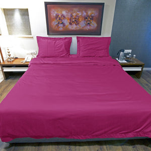 Hot Pink Duvet Cover Set Solid Comfy Sateen