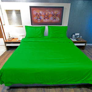 Duvet Cover Set Comfy Solid Parrot Green