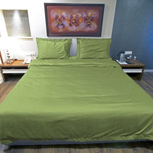 Sage Duvet Cover Set Solid Comfy Sateen