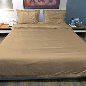 Taupe Duvet Cover set Solid Bliss Sateen