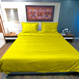 Duvet Cover Set Comfy Solid Yellow